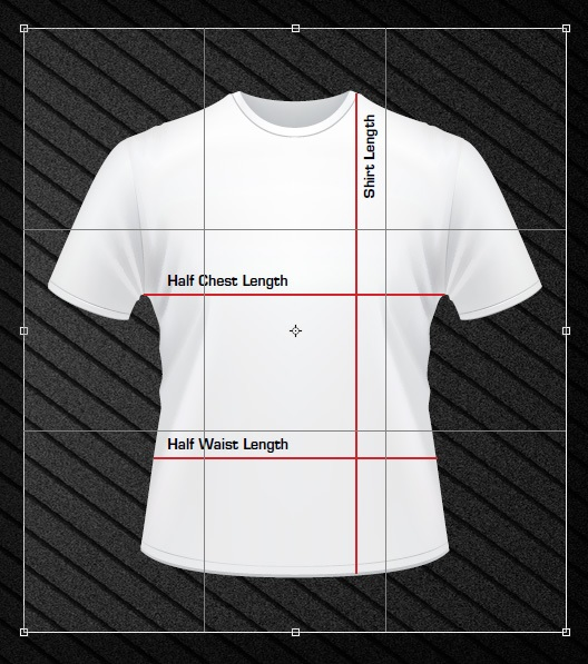 T-Shirt Size outline