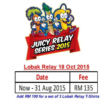 Registration Rates (Lobak Relay only) - Juicy Relay Series 2015