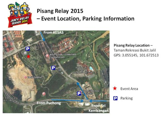 PisangRelay2015 location and parking info