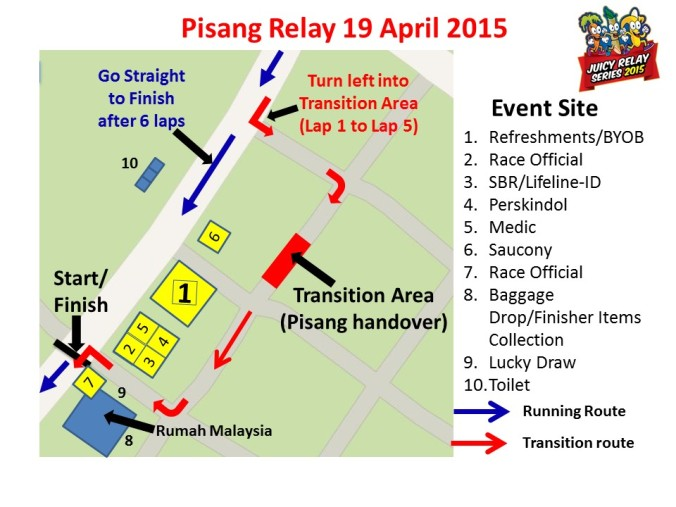 Event Site Layout - Pisang Relay 2015
