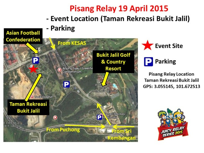 Map Location - Pisang Relay 2015
